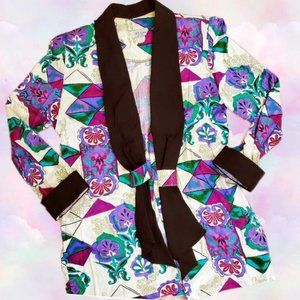 Vintage 80s abstract print blazer